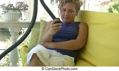 envoi, message, texte