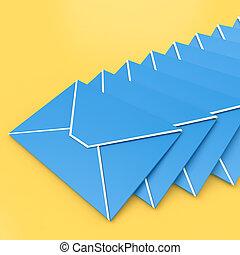 envoi, symbole, e-mail, inbox, enveloppes, contacter, spectacles