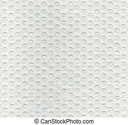 envoltorio de burbuja, textura