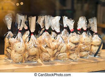 envolturas, galletas, celofán