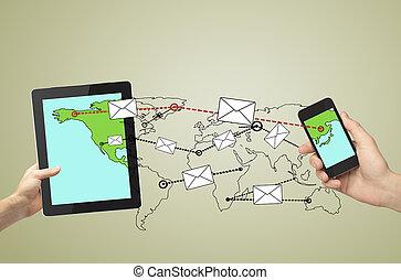 envoyant messages