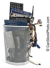 envoyer à la casse, déchets ménagers, électronique, boîte