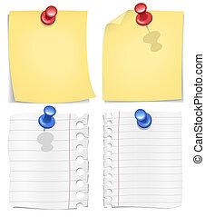 envoyer à la casse, vecteur, image, /, postit