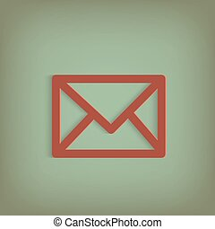 envoyer enveloppe, illustration