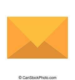 envoyer enveloppe, isolé, lettre