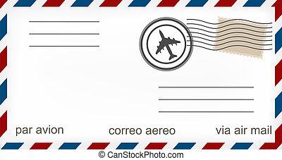 envoyez avion enveloppe