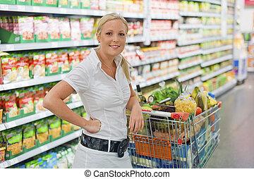 eny shopping, s, kára, do, ta, supermarket