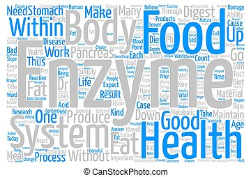 Enzymes and You Word Cloud Concept Text Background