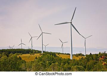 Eolian Alternative Energy Source Landscape
