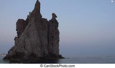 eolian island coast 12 - Mediterranean rocky coast, eolian...