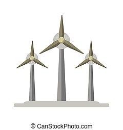 eolic, エネルギー, タービン, シンボル, 風