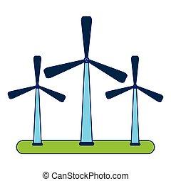 eolic, エネルギー, タービン, 風