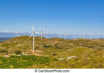 eolic, 風車, maldonado, 田舎, ウルグアイ