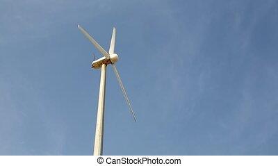 eolic, concept, aimer, énergie, poteau, vert