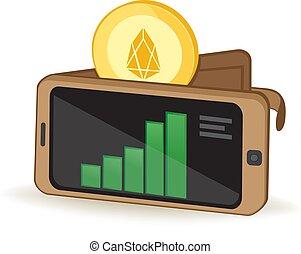 Eos Wallet - Eos Cryptocurrency Coin Digital Wallet