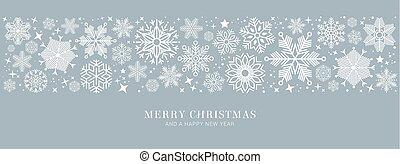 ep, 聖誕節, 插圖, 矢量, 卡片, 藍色, 雪花, 白色