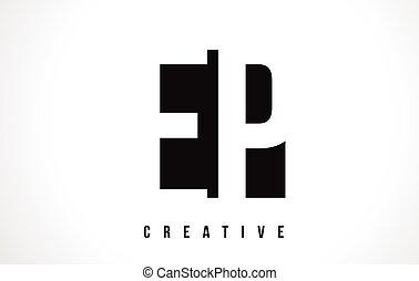 square p conception lettre logo blanc noir carr233e