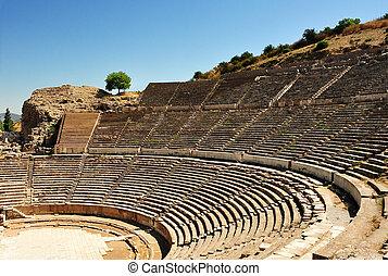 ephesus, amphitheatre, turkey.