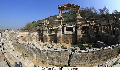 Ephesus Ancient City - ruins of the ancient Ephesus in...