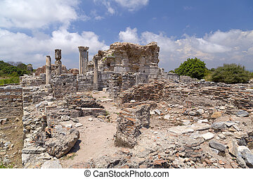 Ephesus, Turkey - The ancient Greek-Roman city of Ephesus or...