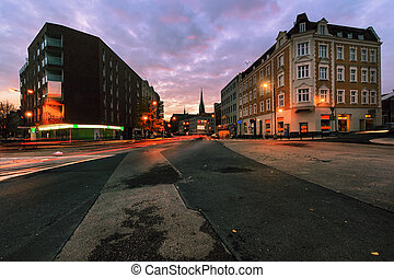 Epic evening on the streets of Gliwice, Poland