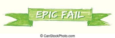 epic fail ribbon - epic fail hand painted ribbon sign