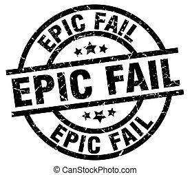 epic fail round grunge black stamp