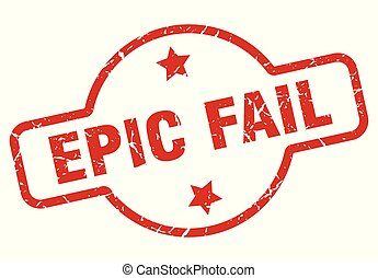 epic fail stamp isolated on white