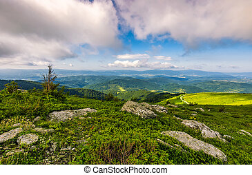 epic landscape in Carpathian high mountain ridge - epic...