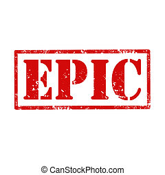 Epic-stamp - Grunge rubber stamp with text Epic,vector...