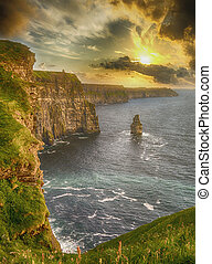 epic views from the cliffs of moher in county clare ireland....