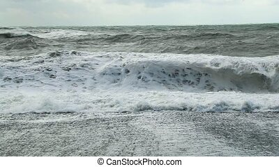 Epic Waves in Iceland - Waves at Rejnisfjara black sand...