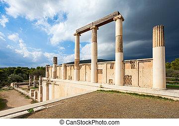 epidaurus, abaton, griekenland