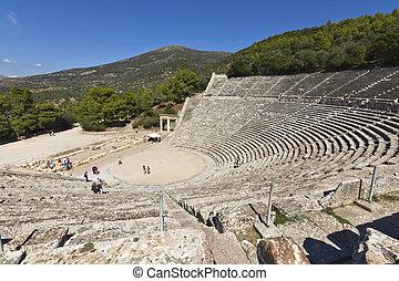 epidaurus, peloponnese, oud griekenland, amphitheater