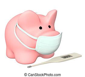 epidemi, av, a, swine, influensa