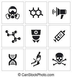 Epidemic icons set