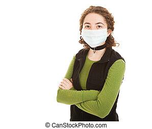 epidemie, -, jugendliches mädchen