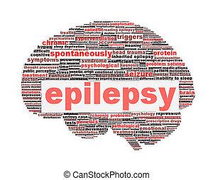 epilepsia, símbolo, conceito, isolado, branca