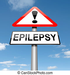 Epilepsy awareness. - Illustration depicting a roadsign with...