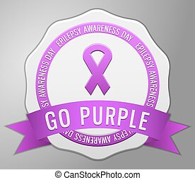 Epilepsy Awarness badge