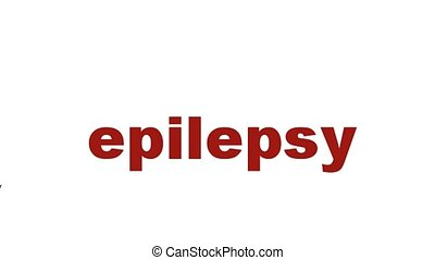 Epilepsy mental health symbol animation. Neurological...