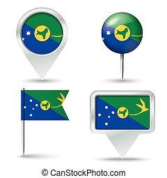 epingles, carte, drapeau