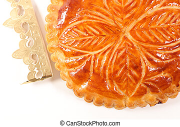 epiphany cake on white background