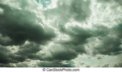episch, himmelsgewölbe, wolkenhimmel, timelapse
