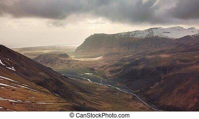 episch, island, landschaftsbild