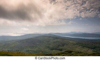 episch, wolkenhimmel, oben, bezirk kork, irland