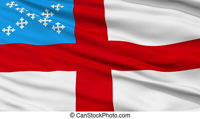 Episcopal Religious Close Up Waving Flag - Episcopal...