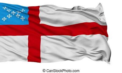 Episcopal Religious Isolated Waving Flag