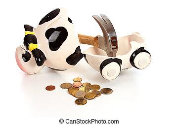 Epmty piggy bank