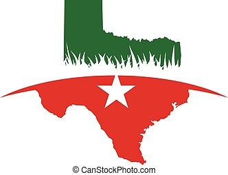 eps , χάρτηs , εικόνα , design., μικροβιοφορέας , texas , εικόνα , 10.